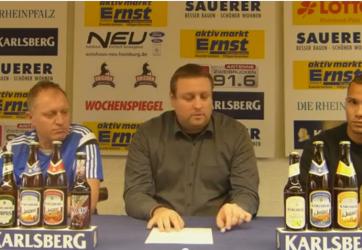 Pressekonferenz mit Luca Jungbluth beim SVN Zweibrücken